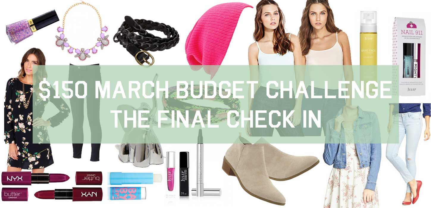 $150 March Budget Challenge Final Check In