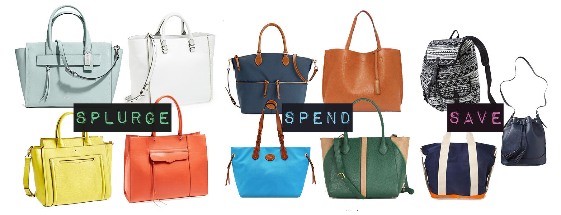 Convertible Tote Bag / Spend, Splurge, Save / hello, rigby!