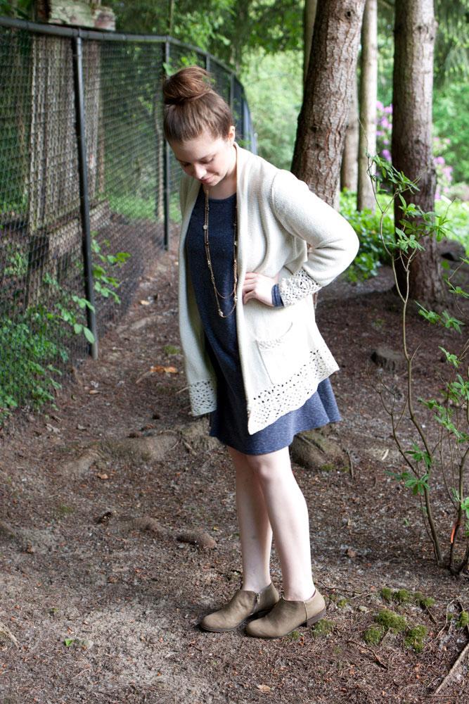 boho cardigan + swing dress / hello, rigby!