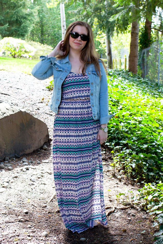 Maxi Dress + Jean Jacket / hello, rigby!