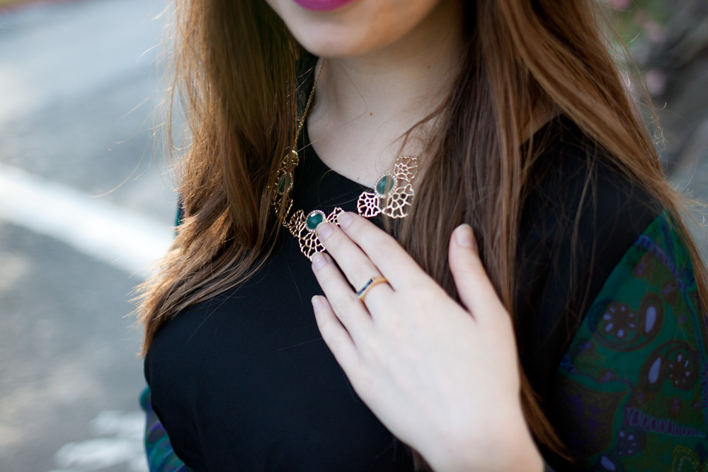 Matterial Fix Statement Necklace + Gorjana Mila Ring via Rocksbox / hellorigby!