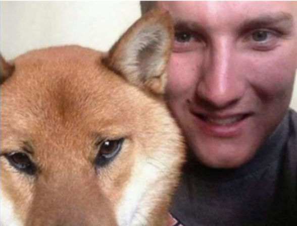 Soldier Robby and Baxter the Shiba / hellorigby!