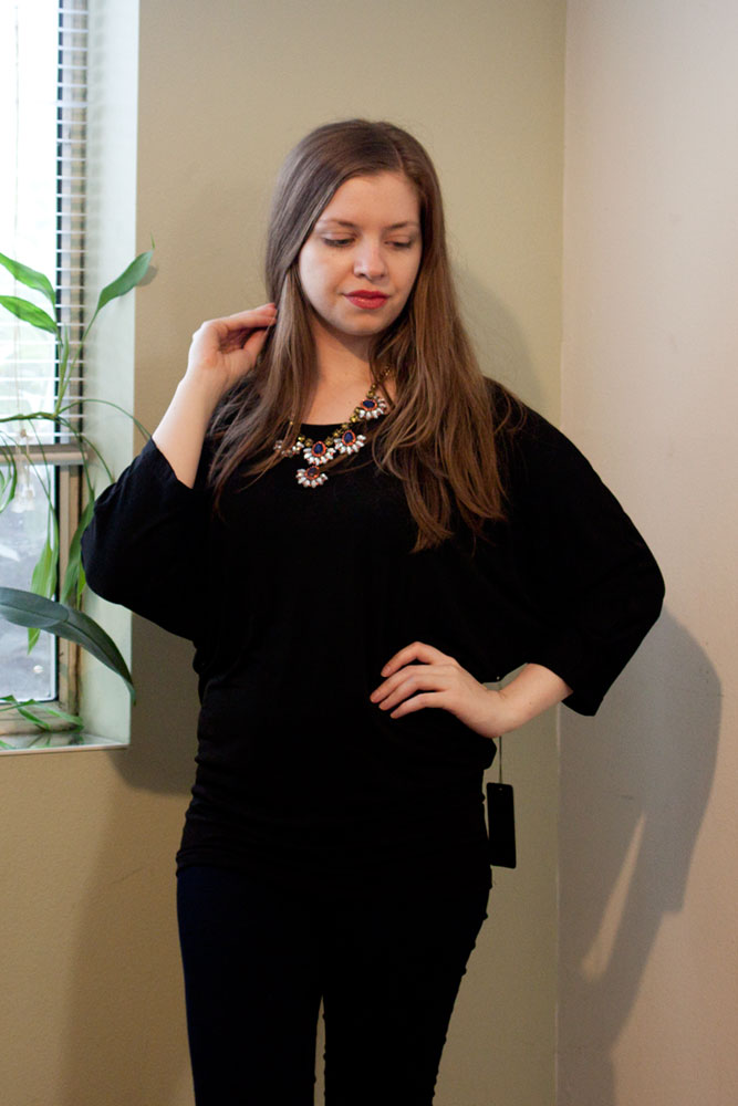 41Hawthorn Beatrice Exposed Zipper Dolman Top / Stitch Fix Review / hellorigby!