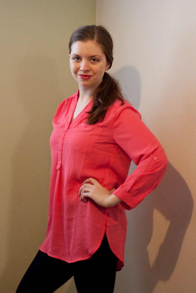 41Hawthorn Colibri Solid Tab Sleeve Blouse / Stitch Fix Review / hellorigby!