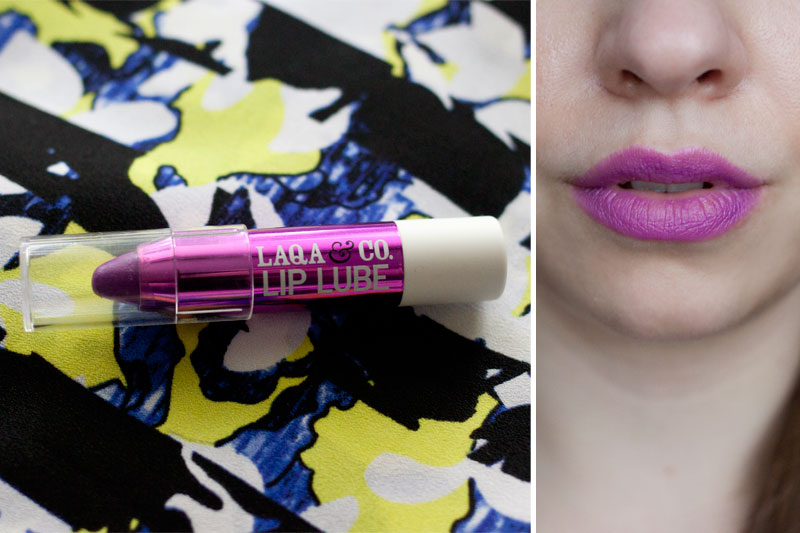 Laqa & Co. Lip Lube + Swatch in Menatour / Birchbox July 2014 / hellorigby!