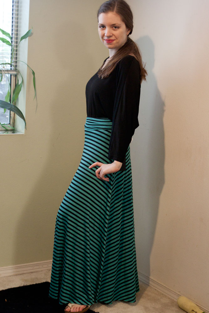 Renee C Gabe Striped Maxi Skirt / Stitch Fix Review / hellorigby!