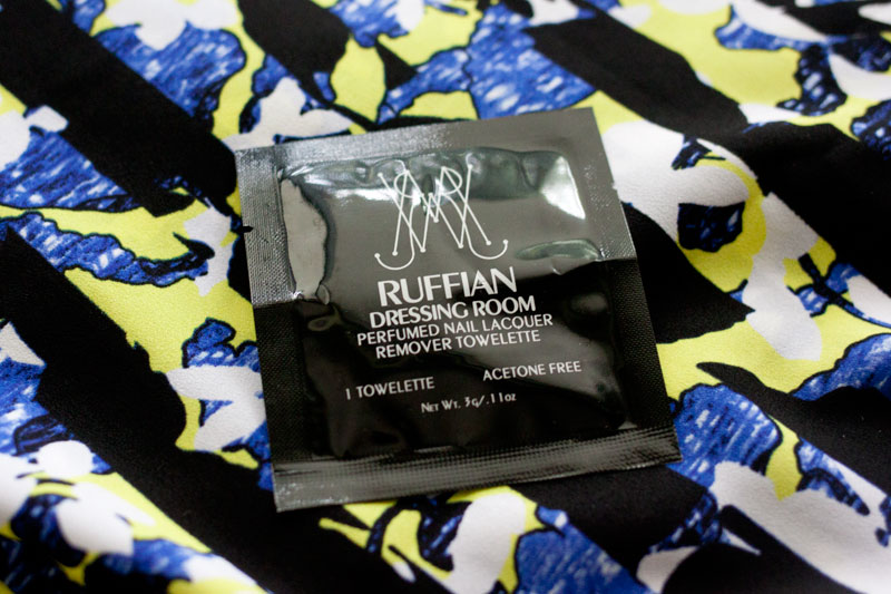 Ruffian Dressing Room Nail Lacquer Remover Towelettes / Birchbox July 2014 / hellorigby!