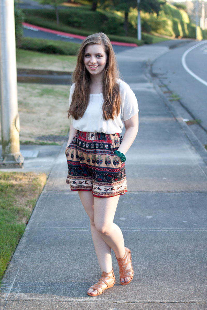 SheInside Culotte Shorts + Sam + Libby Sandals / Favorite Fashion Friday / hellorigby!