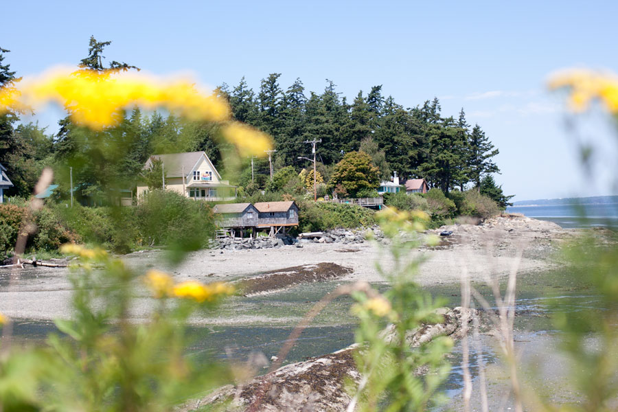 Homes along the shore of Lummi Island / hellorigby!