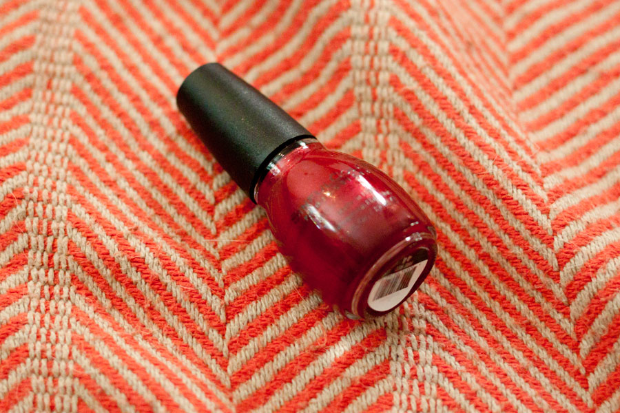 Sinful Colors Nail Polish in Fire Red / Influenster Surf's Up Voxbox / hellorigby!
