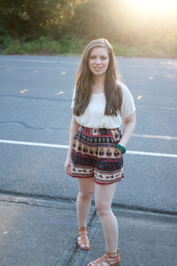 Fashion Blogger Outtakes - Tribal Culotte Shorts / hellorigby!