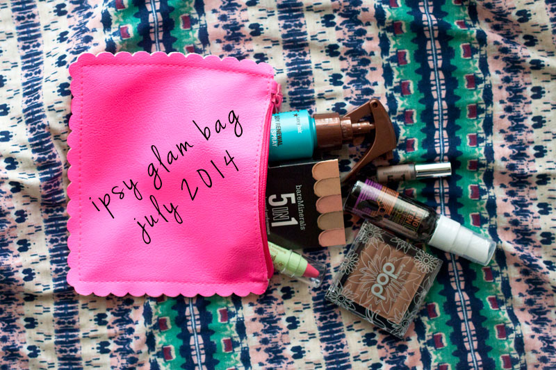Ipsy July 2014 Glam Bag Review / hellorigby!
