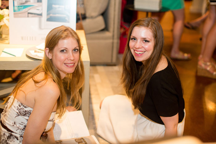 Jenn + Dayna at Peacock Alley Showroom /The Hundred Event Dallas 2014 / hellorigby!