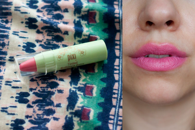 Pixi Tinted Brillance Balm in Pretty Pink + Swatch / Ipsy July 2014 / hellorigby!