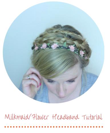 Milkmaid Flower Braid Hair Photo Tutorial