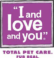 I and love and you total pet care fur real logo