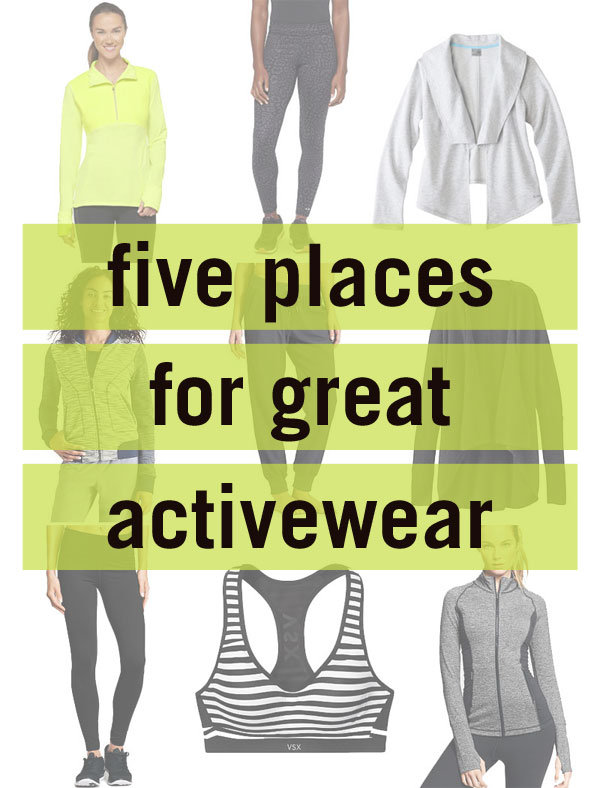 5 Places for Great Activewear / hellorigby!