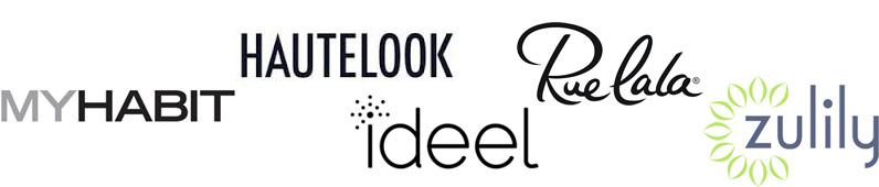 MyHabit, Hautelook, RueLaLa, Zulily, Ideel, RueLaLa logo / hellorigby!