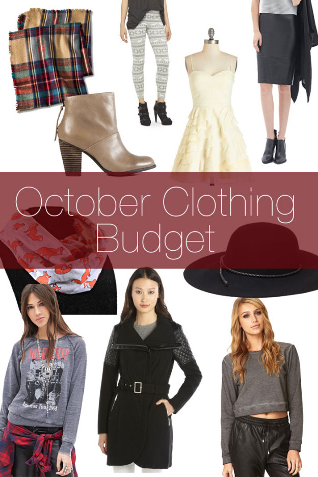 October Clothing Budget / hellorigby!