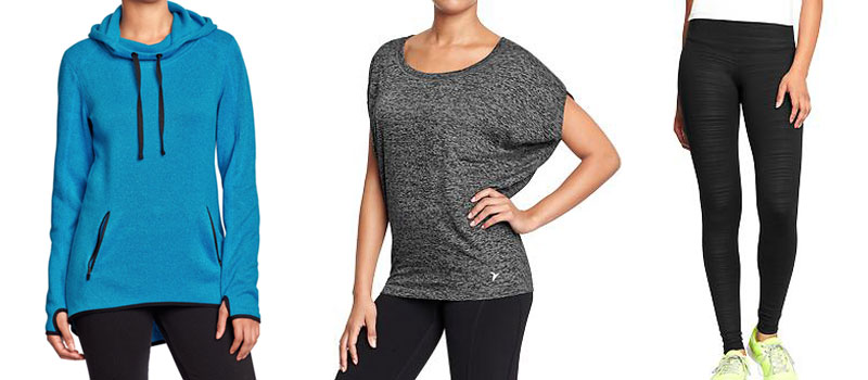 Old Navy Sweater Pullover, Compression Leggings, Burnout Tee / hellorigby!