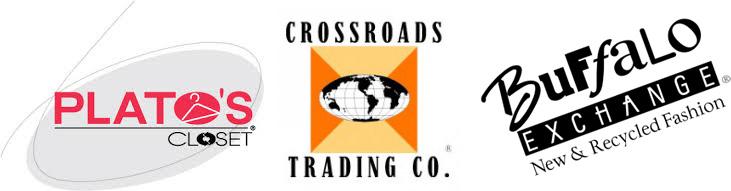 Platos Closet, Crossroads Trading Co., Buffalo Exchange Logos / hellorigby!