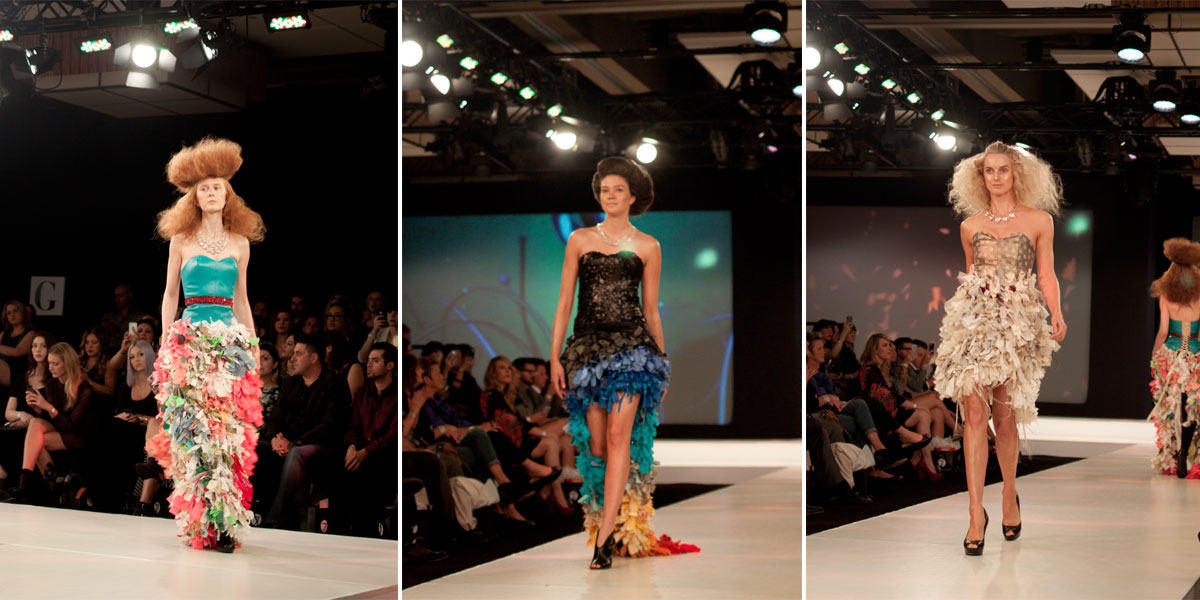 Seven Salon illuminessence Fashion Show Runway - Mermaid Style Gowns / hellorigby!
