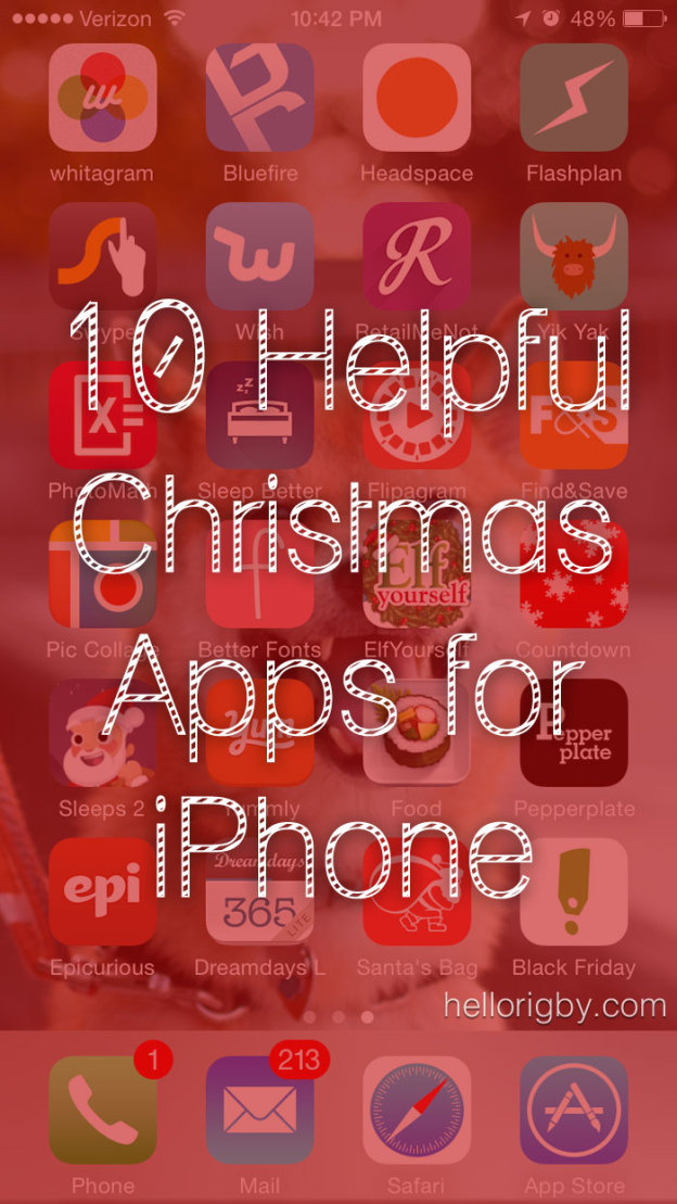 10 Helpful Christmas Apps for iPhone / hellorigby!