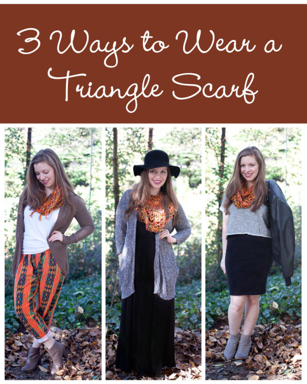 3 Ways To Wear a Triangle Scarf / hellorigby!