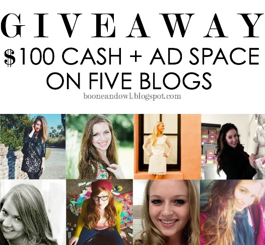 Giveaway for $100 Cash and Ad Space on 5 Blogs / hellorigby!