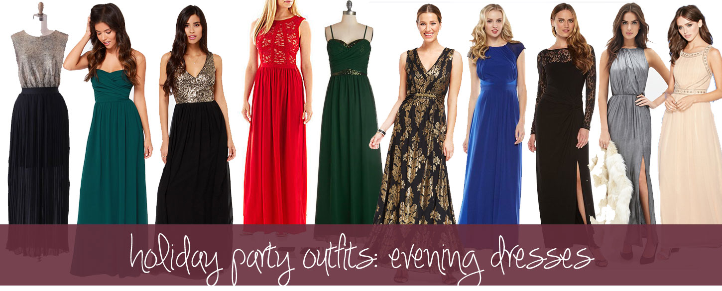 Holiday Party Outfits: Evening Formal Dresses / hellorigby!