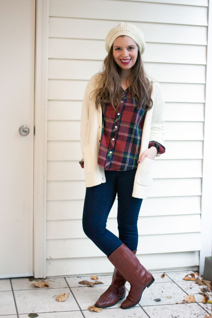 Oversized Sweater Outfit with Plaid / hellorigby!