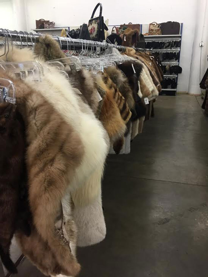 Seattle Goodwill Glitter Sale 2014 Preview / Vintage Fur Coats and Capes / hellorigby!