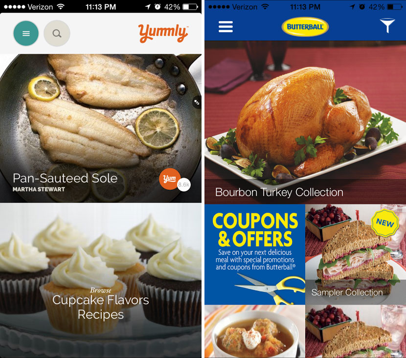 Yummly & Butterball Turkey iPhone App for Food and Cooking / hellorigby!