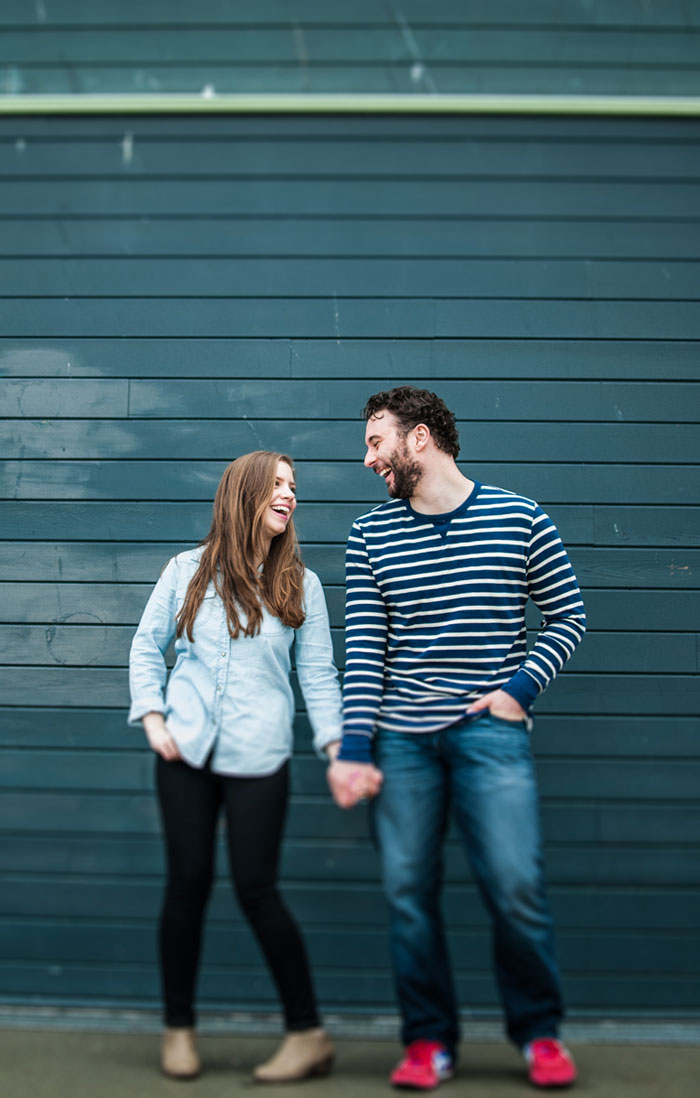 Couple Laughing / Jenn an David Couples Session, Seattle, WA Pier & Pike Place Market by TMinspired Photography / hellorigby