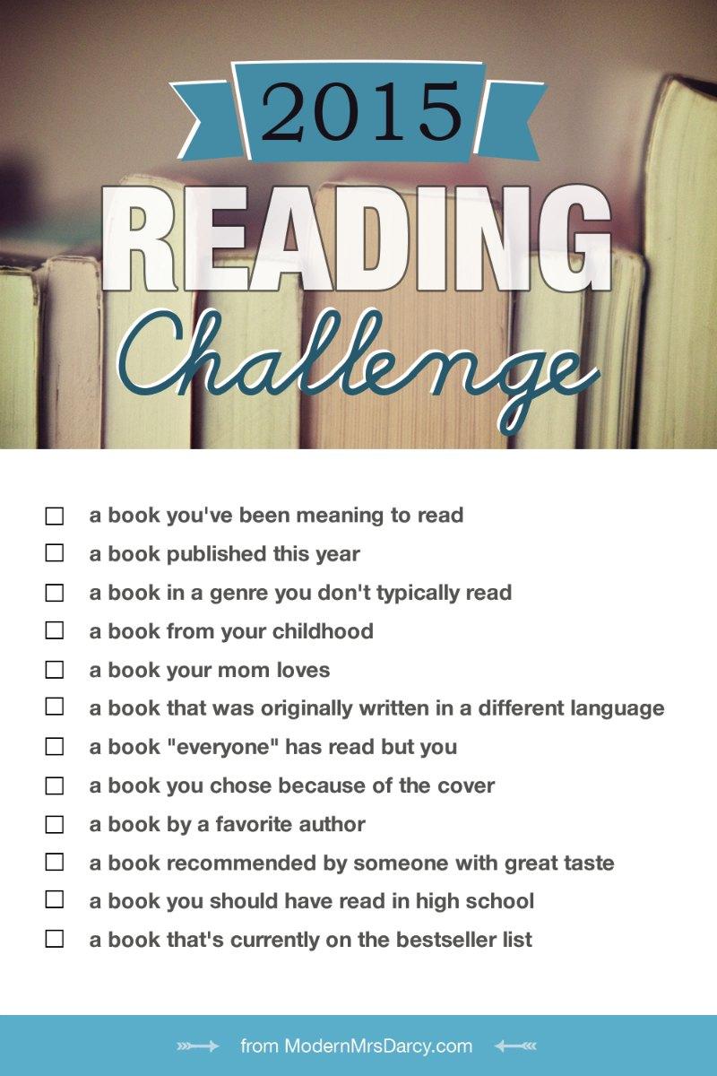 Modern Mrs. Darcy 2015 Reading Challenge / hellorigby!