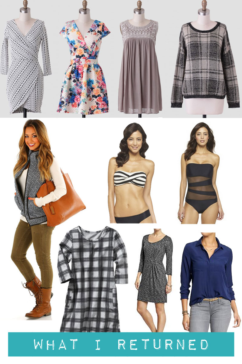 Budgeting Bloggers January: What I Returned / hellorigby! seattle fashion and lifestyle blog