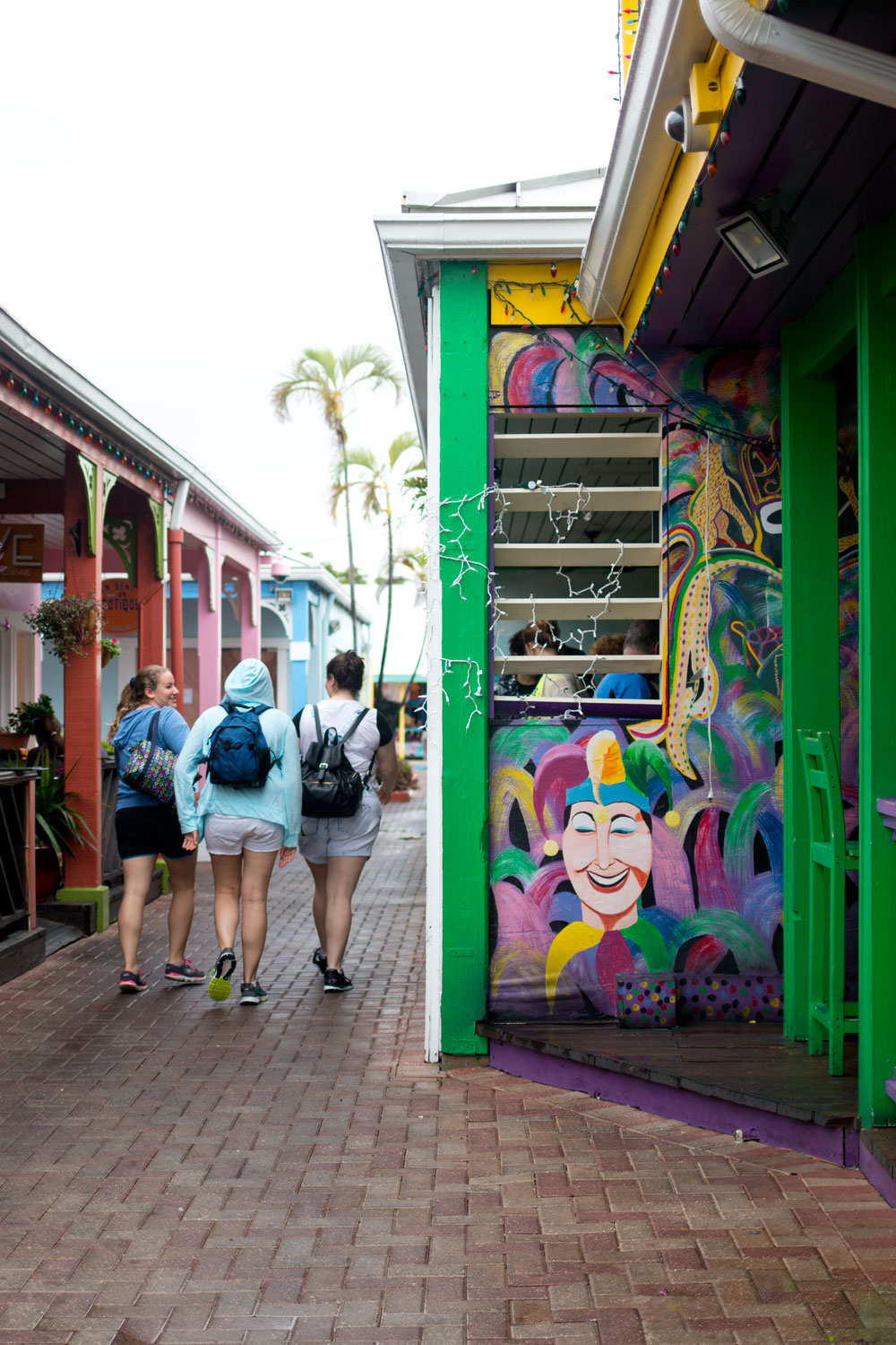 Mardi Gras Mural at Port Lucaya Marketplace, Bahamas / hellorigby seattle fashion and lifestyle blog