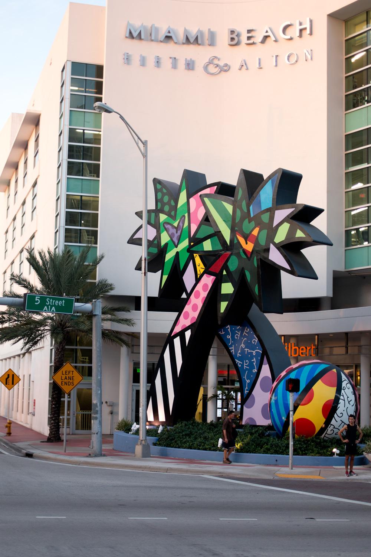 Miami Beach Fifth and Alton Romero Britto Installation Art / hellorigby!