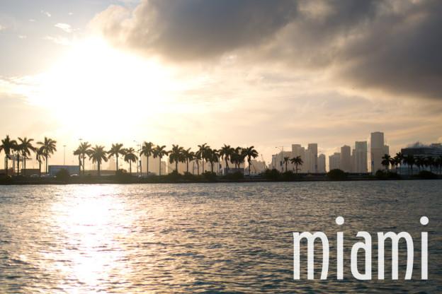 Miami, Florida Beach Skyline and Water / hellorigby!