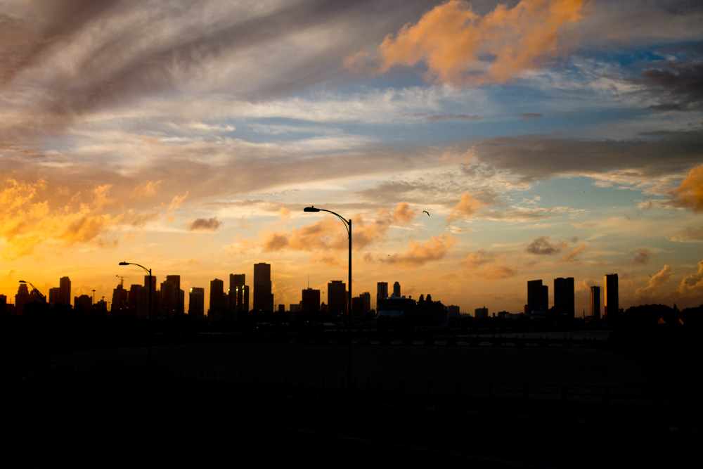 Miami, Florida Sunset Skyline / hellorigby!