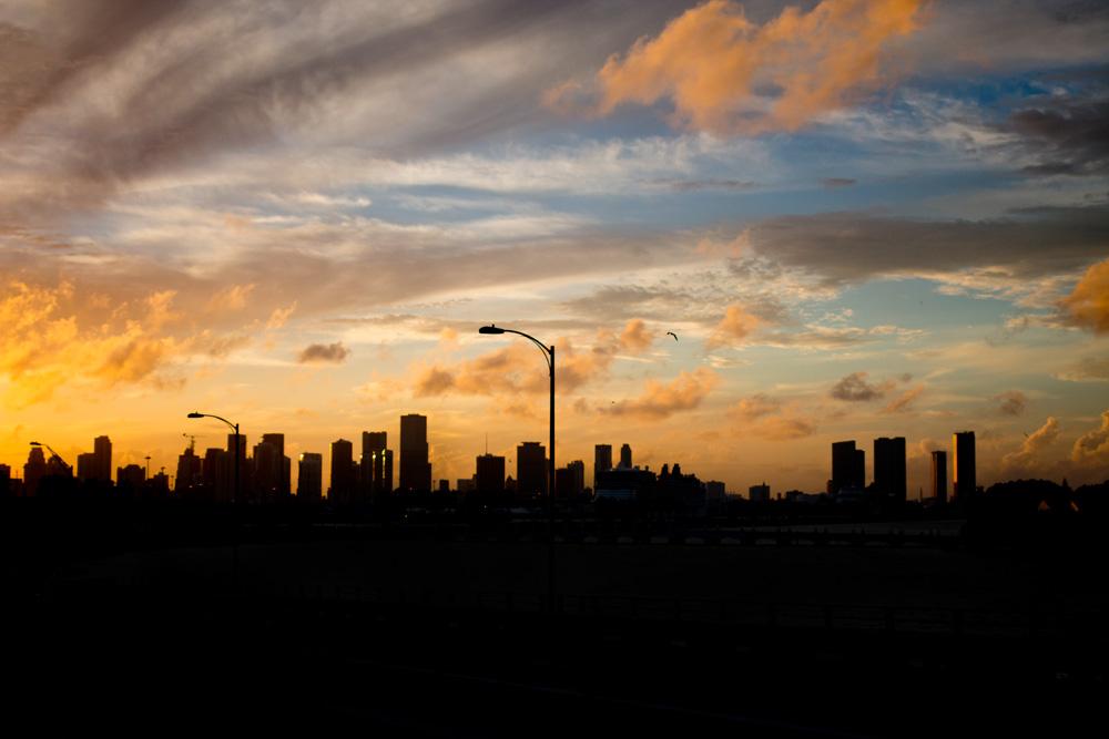 Miami, Florida Sunset Skyline / hellorigby!