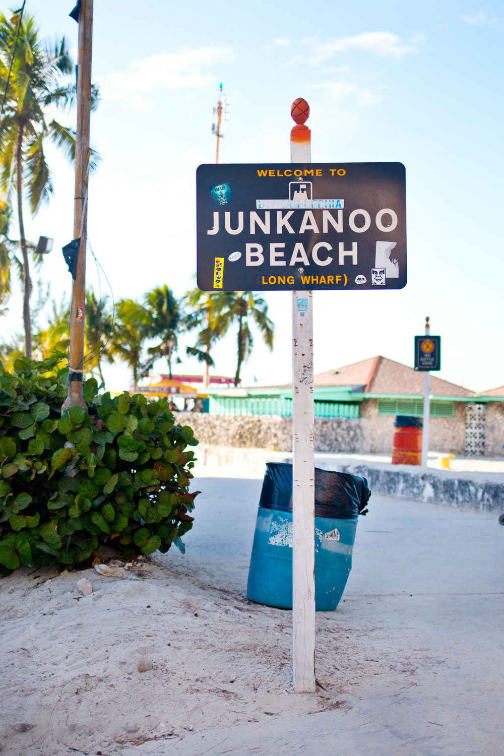 Welcome to Junkanoo Beach Long Wharf Sign - Nassau, Bahamas / hellorigby seattle fashion and lifestyle blog