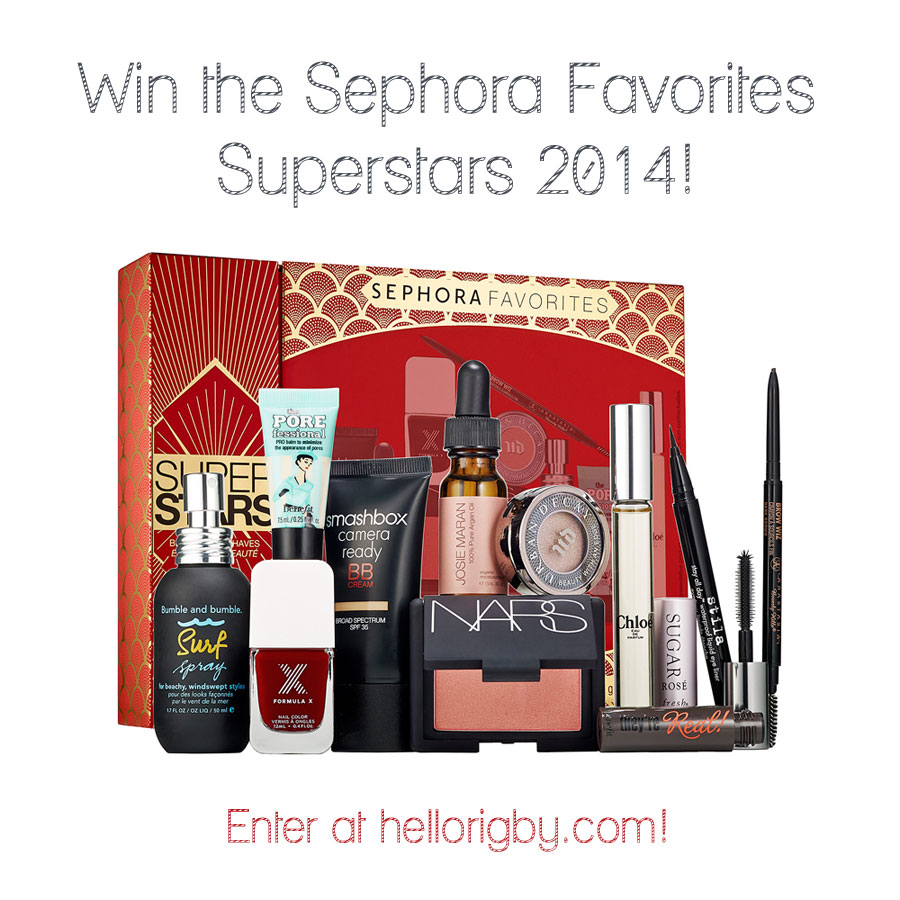Win the Sephora Favorites Superstars 2014  Giveaway / hellorigby!