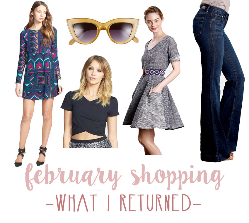 February Shopping: What I Returned / hellorigby seattle fashion and lifestyle blog