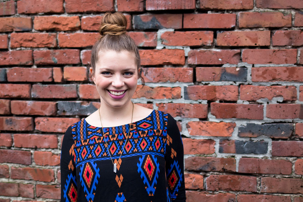 Lucky Revival Shift, Crystal Necklace, Top Knot Outfit / hellorigby seattle fashion blog