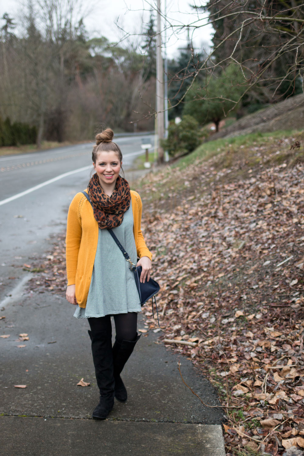 Mixing Patterns - Stripes and Animal Print Outfit / hellorigby seattle fashion blog