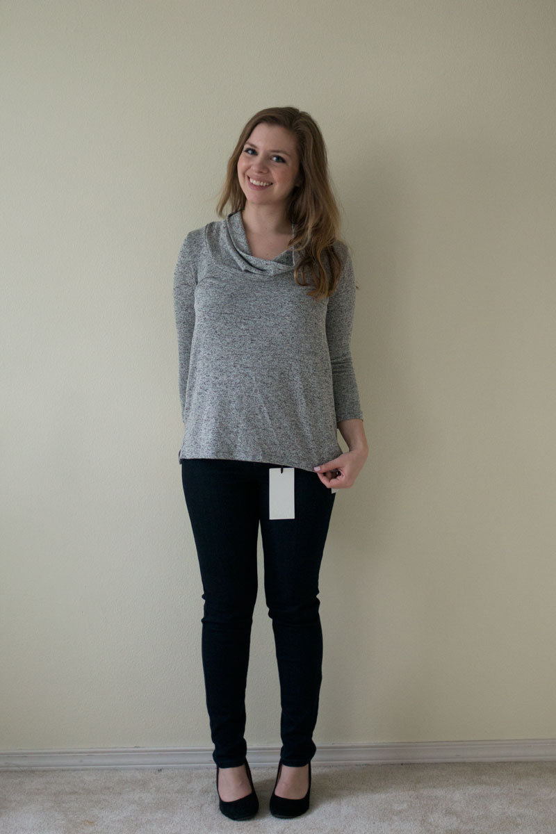 "Stitch Fix February 2015 - Kensie Jeans ""Johnny"" Ankle Biter Skinny Jeans, Market & Spruce Chambers Cowl Neck Knit Top / hellorigby seattle fashion and lifestyle blogg"