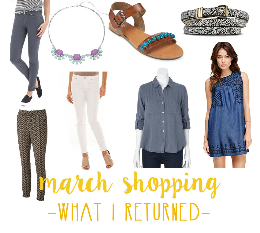 March Shopping Budget & Haul - What I Returned / hellorigby seattle fashion and lifestyle blog