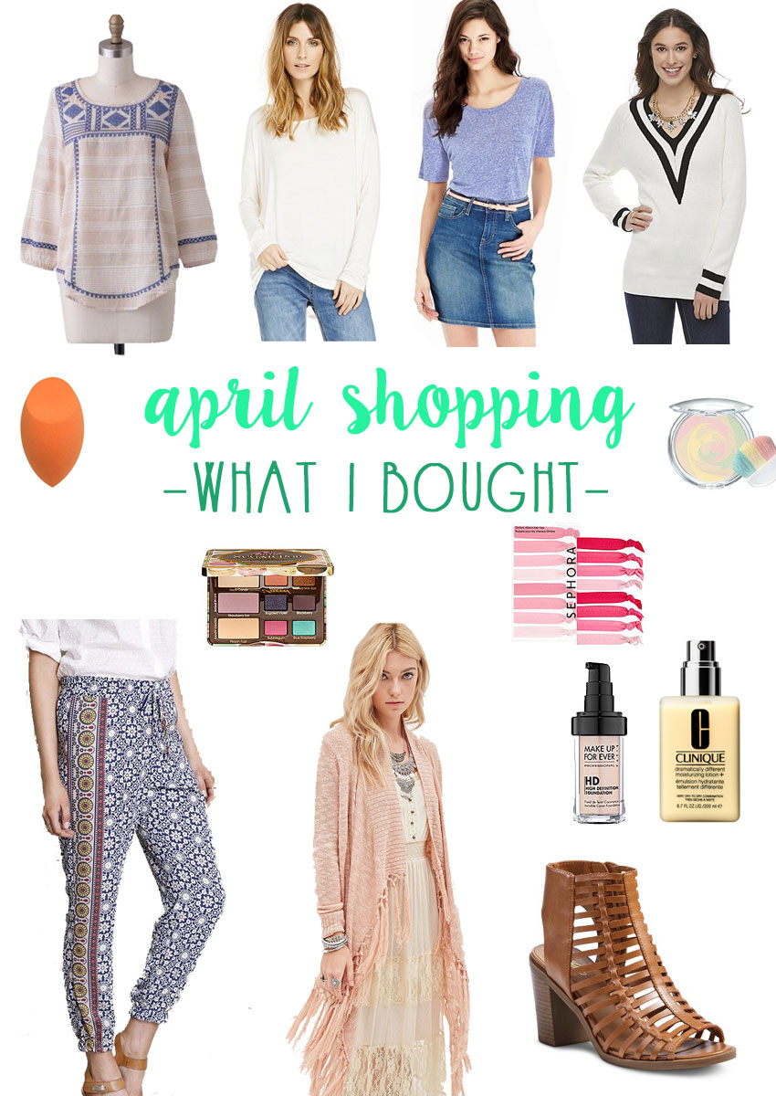 April Shopping Budget: What I Bought / hellorigby seattle fashion blog