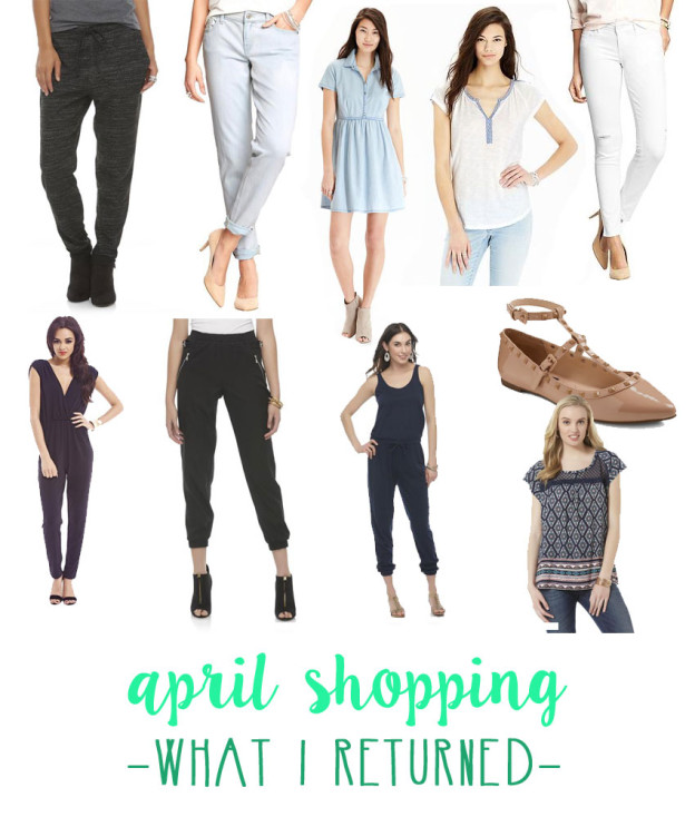April Shopping Budget: What I Returned / hellorigby seattle fashion blog